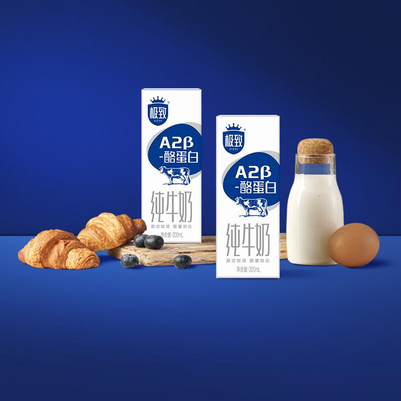 三元A2β酪蛋白纯牛奶10盒*4箱
